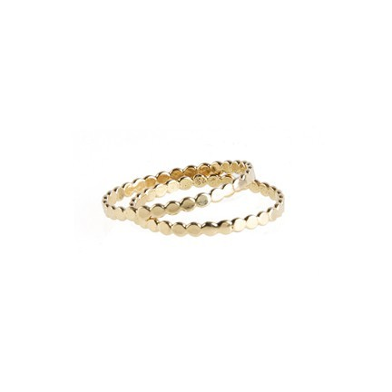 little circle gold bands