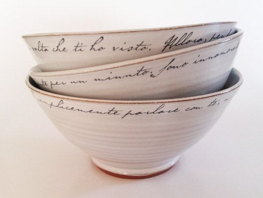 love letter bowl white