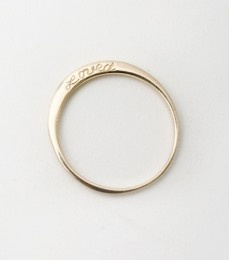 loved gold wedding band