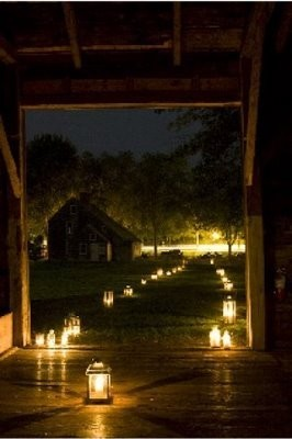 luminarialightedpathwedding once wed