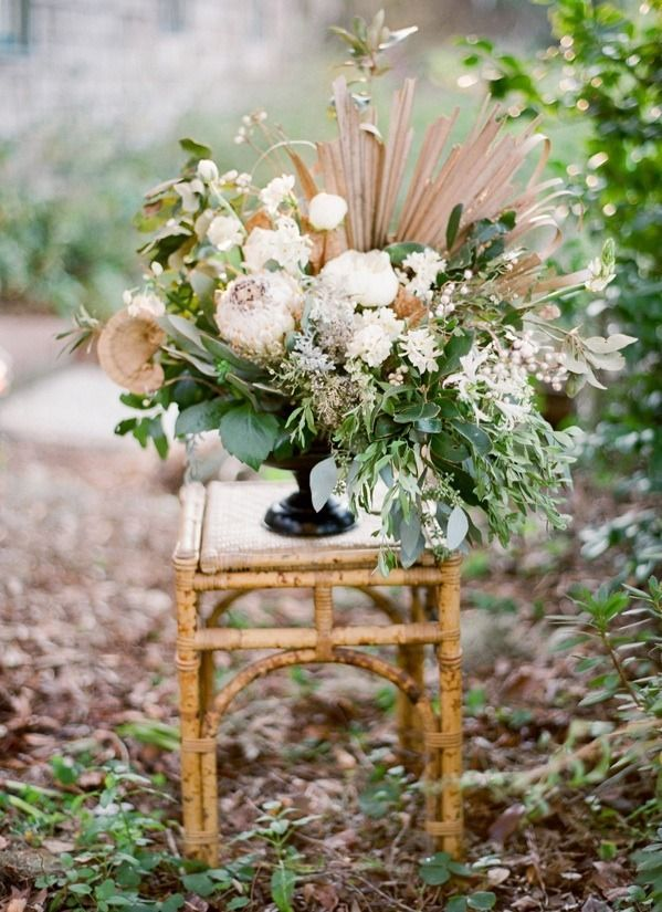 magnolia plantation charleston wedding flower urn decoration