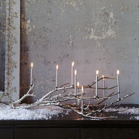 candelabra winter wedding