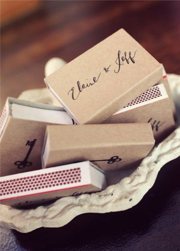 matchbook wedding favors