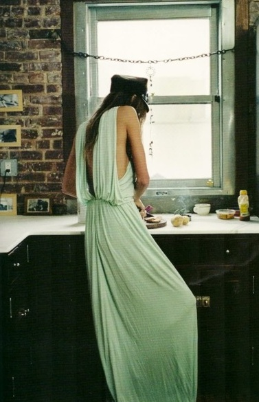 mint casual gown