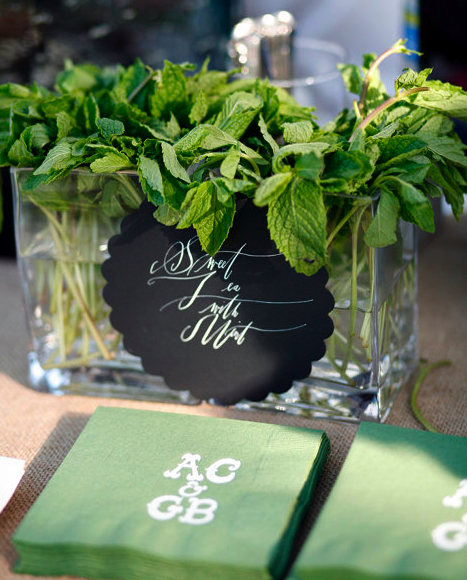 mint centerpiece unique ideas