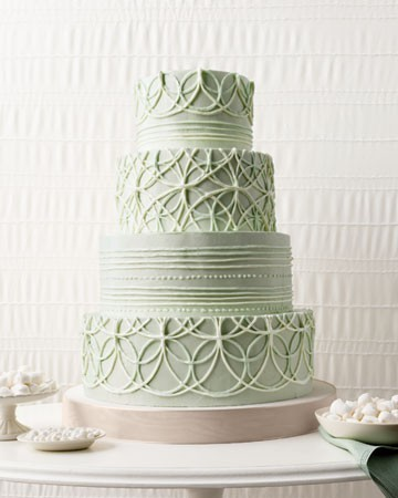 mint design wedding cake