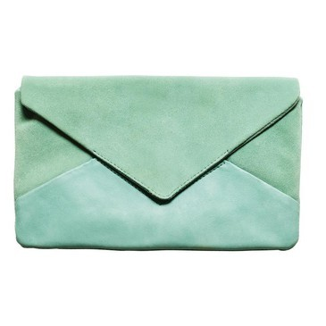 mint suade clutch