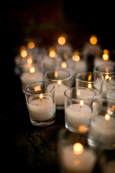 montreal wedding candle votives