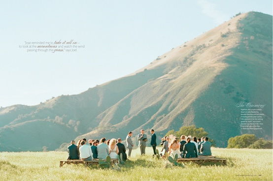 mountain outdoor ceremony