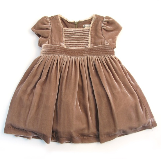 mushroom velvet flower girl dress