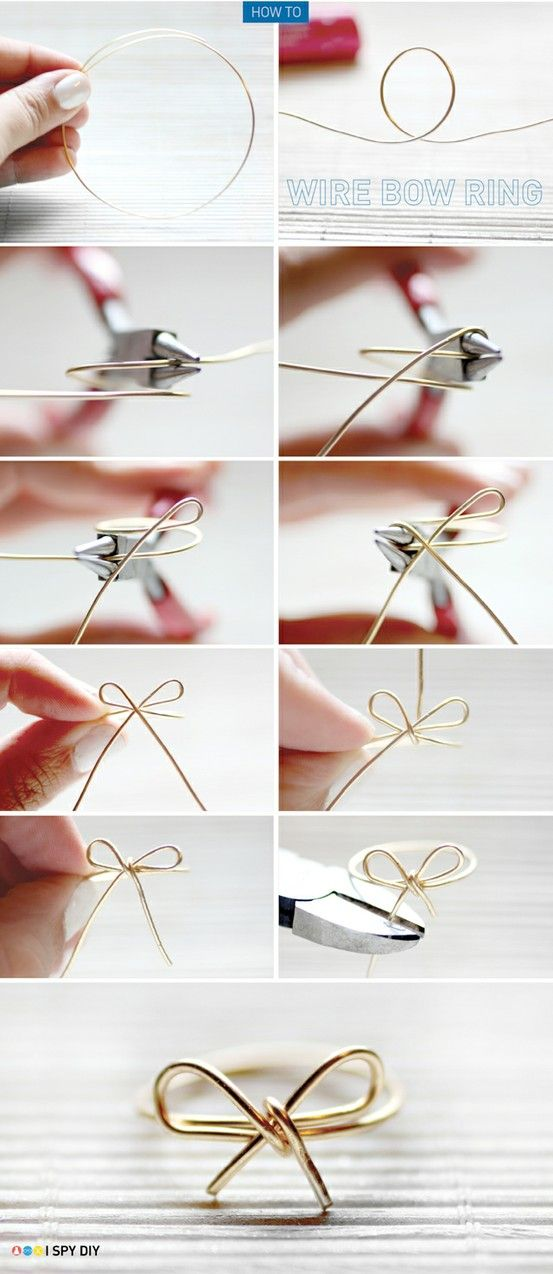 diy wire bow ring