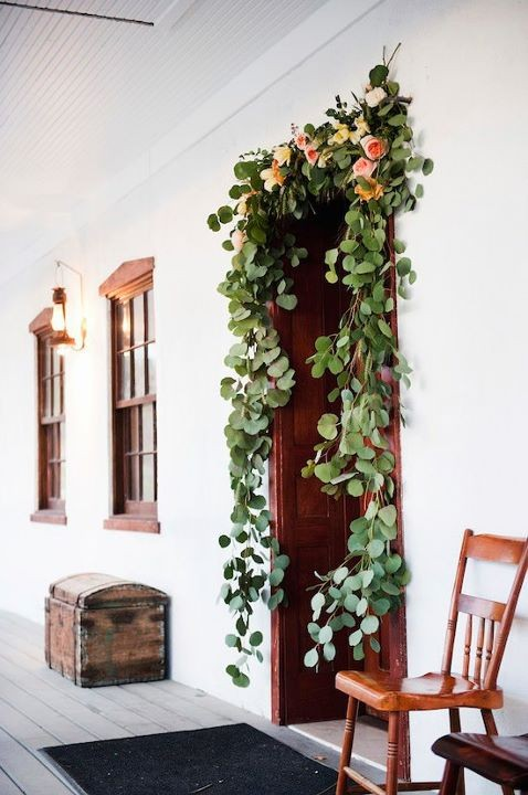 natural garland wedding ceremony decorations