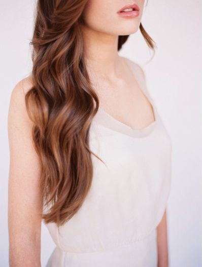 natural waves wedding hair