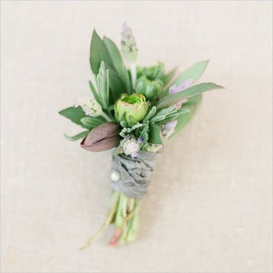 natural wedding boutonniere