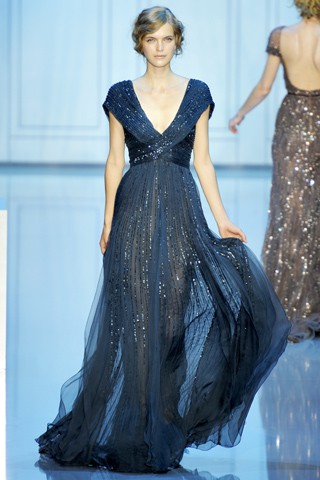 navy sparkling gown