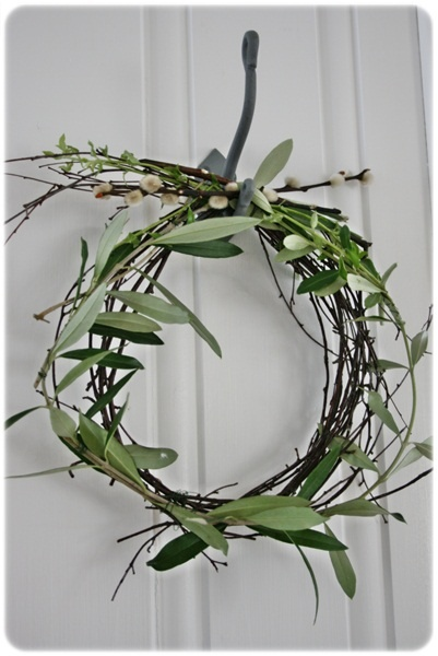 olive branch wreath wedding ceremony decoration