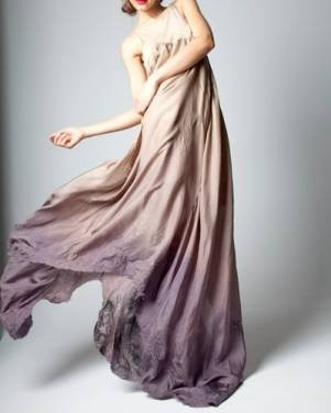 ombre purple gown