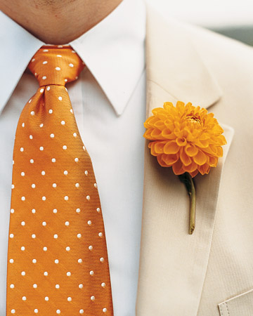 orange blossom boutonniere