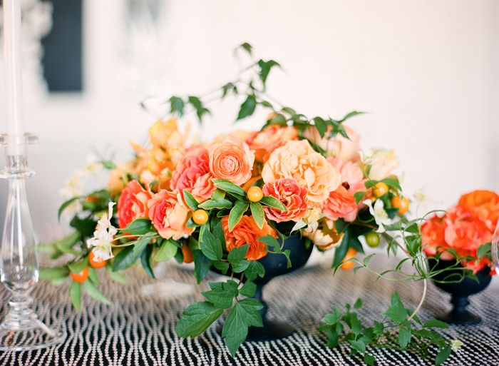 orange centerpiece flowers
