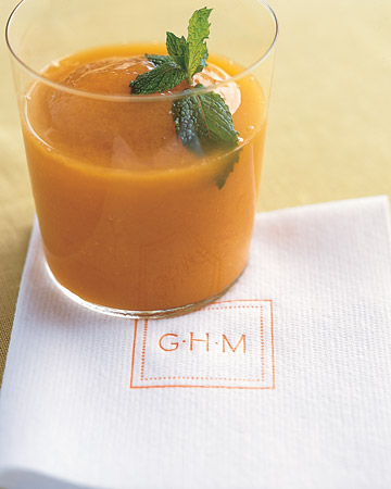 orange mint cocktail