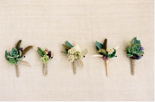 organic herb boutonniere