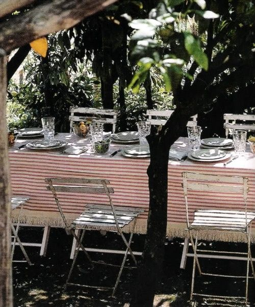 outdoor dining elle decor
