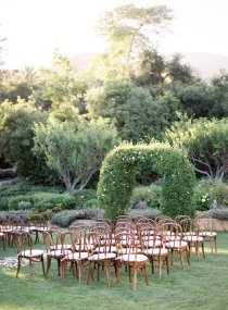 outdoor elegant ceremony