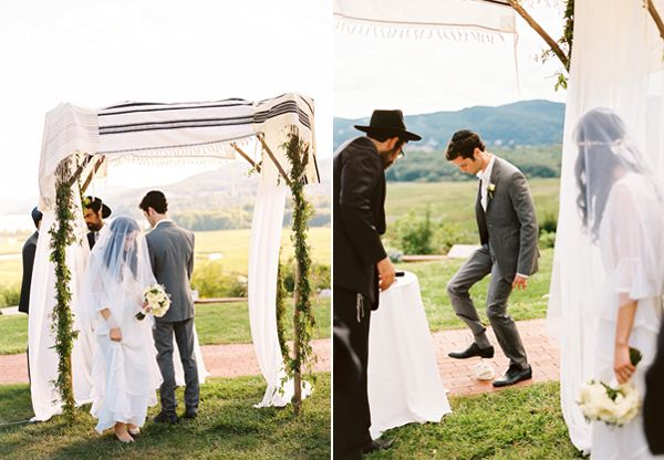 Outdoor Jewish Wedding Chuppah Once Wed