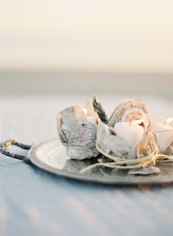 oyster shell votive diy