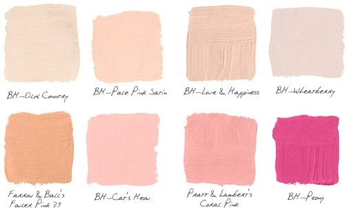 paint samples blush