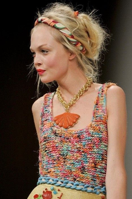 colorful runway dress