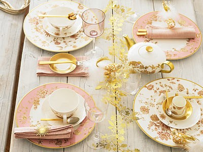 Pink And Gold Table Setting Via Thisisglamorous Once Wed