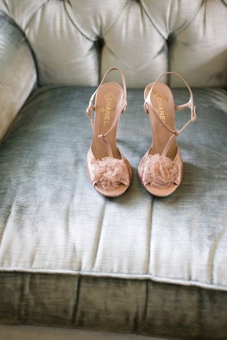 pink bow chanel shoes