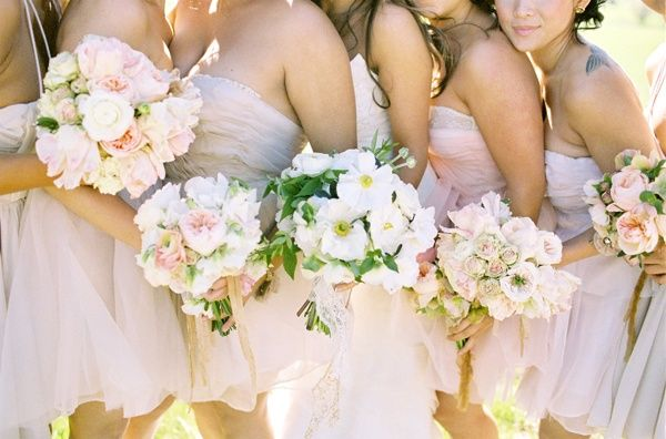 pink bridesmaids dresses short