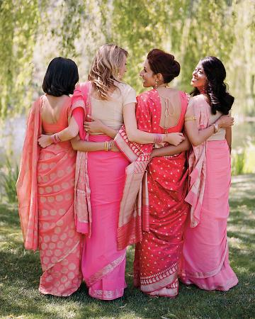 pink cultural bridesmaid dresses