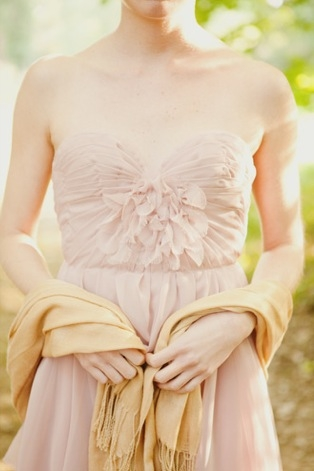 pink flower bridesmaid dress