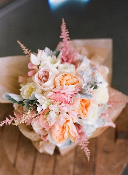 Pink Flower Pink Fern Bouquet