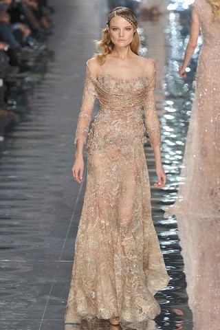 pink gold formal gown