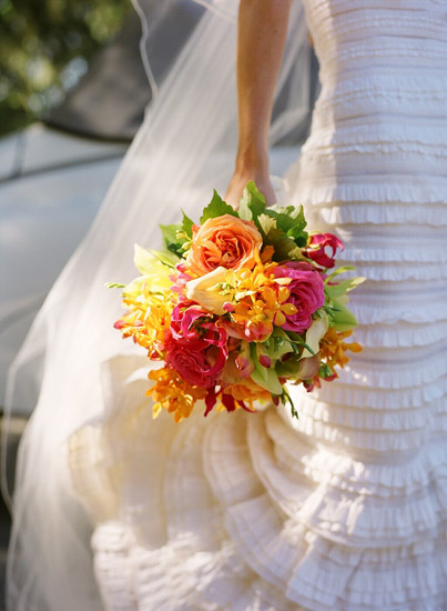 Pink Orange Flowers Wedding