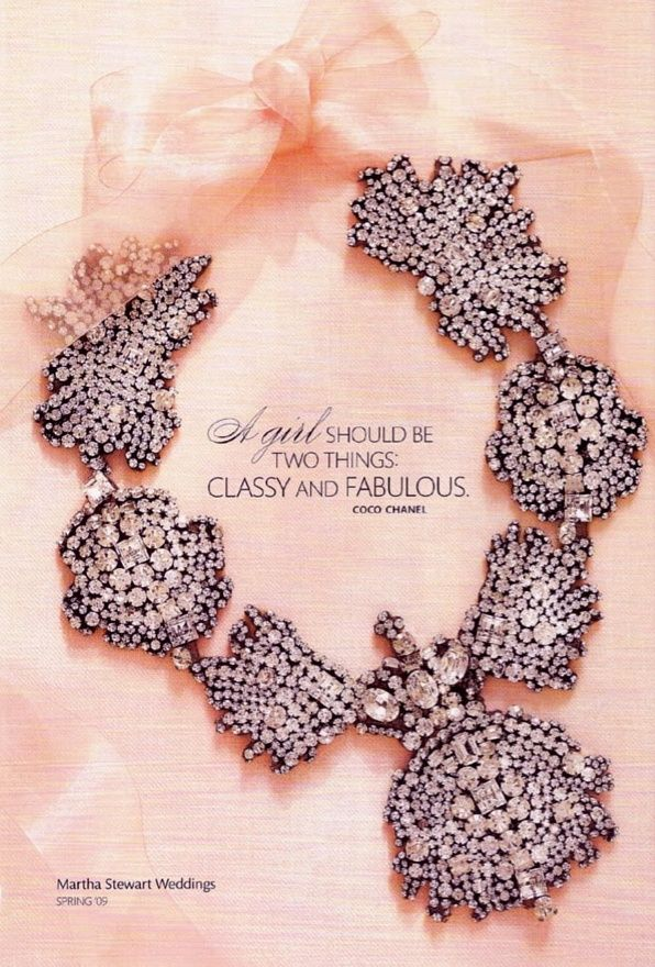pink ribbon diamond statement necklace