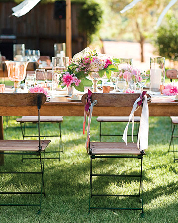 pink ribbon reception chairs