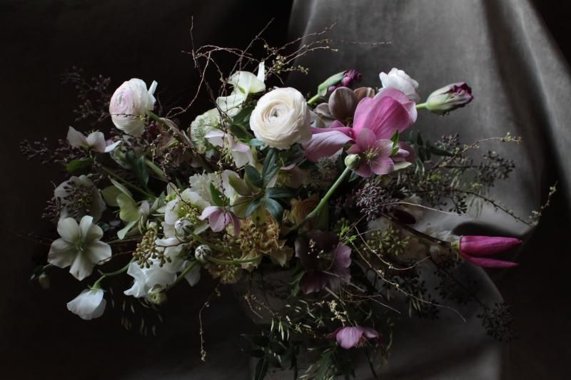 Pink White Black Wedding Centerpiece Ideas Once Wed