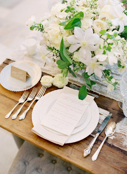 place setting formal elegant