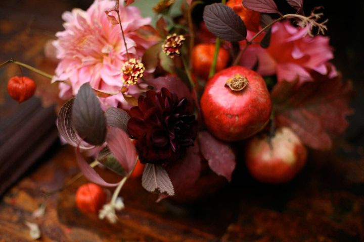 pomegranate centerpiece amy merrick