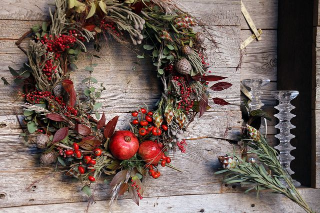 pomegranate fall wreath