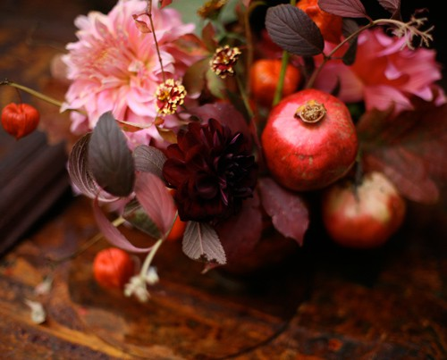 pomegranate wedding flowers