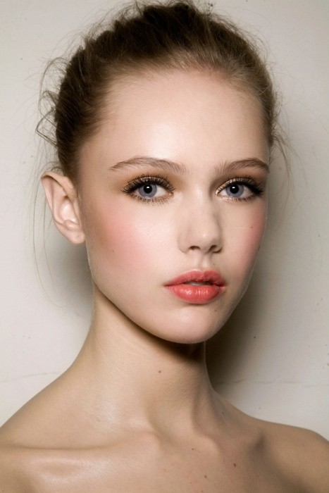pretty pink cheeks makeup