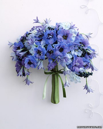 purple blue delicate bouquet