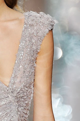 purple gray sparkle dress