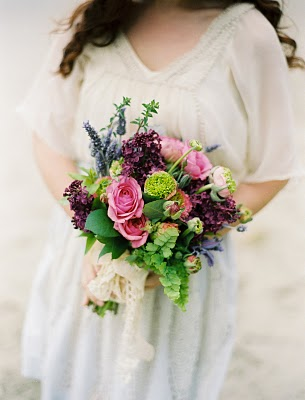 purple green blue bouquet